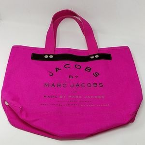 Jacobs Marc Jacobs Pink Canvas Tote Leather Trim